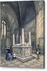 Tomb Of Gustav I In Uppsala Cathedral Acrylic Print by Karl Johann Billmark