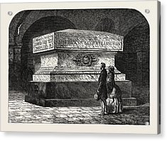 Tomb Of The Late Duke Of Wellington In The Crypt Of St Acrylic Print