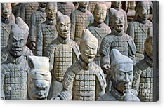 Acrylic Print featuring the photograph Tomb Warriors by Robert Meanor