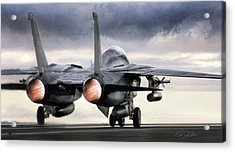 Tomcat Launch Acrylic Print by Peter Chilelli
