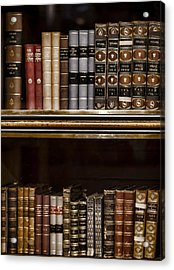 Tomes Acrylic Print by Heather Applegate