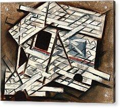 Cubism Mail Truck Art Print Acrylic Print by Tommervik