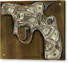 Tommervik Cash Gun Art Print Acrylic Print