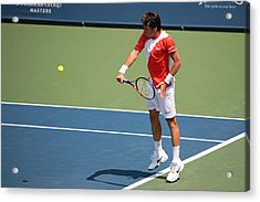 Tommy Haas  Acrylic Print by James Marvin Phelps