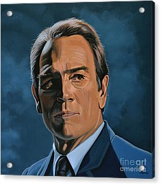 Tommy Lee Jones Acrylic Print by Paul Meijering