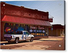 Tom's Tires Acrylic Print by Angie Rayfield