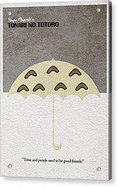 Tonari No Totoro Acrylic Print by Ayse Deniz