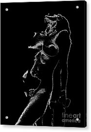 Tone-line Form Acrylic Print