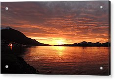 Tongass Narrows Sunrise On 12/12/12 Acrylic Print by Karen Horn