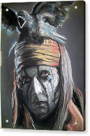 Acrylic Print featuring the pastel Tonto by Peter Suhocke