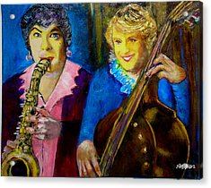 Tony And Jack-some Like It Hot Acrylic Print by Seth Weaver