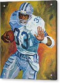 Tony Dorsett - Dallas Cowboys  Acrylic Print by Mike Rabe