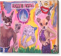 Tony Ferguson El Cucuy  Acrylic Print by Lisa Piper Menkin Stegeman