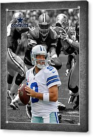 Tony Romo Cowboys Acrylic Print by Joe Hamilton