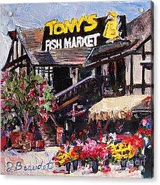 Tony's On The Redondo Pier Acrylic Print