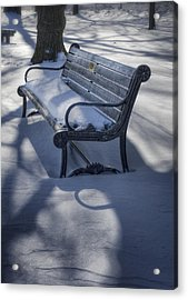 Too Cold To Contemplate Acrylic Print by Joan Carroll