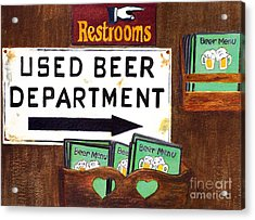 Acrylic Print featuring the painting Too Many Suds by Karen Fleschler