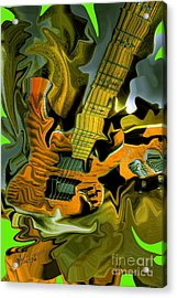 Too Much Vibrations Digital Guitar Art By Steven Langston Acrylic Print by Steven Lebron Langston
