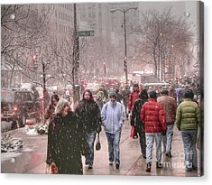 Too Soon The Snow Acrylic Print by David Bearden