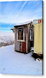 Tool Shed In Winter Acrylic Print