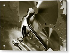 Tools And Stainless-steel Idea Acrylic Print by Christian Lagereek