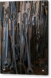 Tools Of The Roundhouse Acrylic Print by Laurel Powell