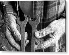 Tools Used All His Life Acrylic Print by Kristie  Bonnewell