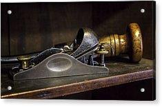 Tools-vintage-carpenter's Wood Plane Acrylic Print