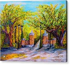 Toomer's Corner Oaks Acrylic Print