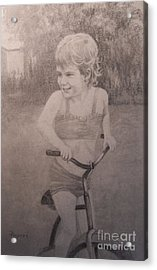 Acrylic Print featuring the drawing Tootie by Mary Lynne Powers