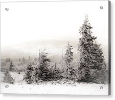 Top Of Canaan In Winter Acrylic Print by Shane Holsclaw