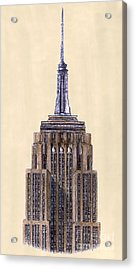 Top Of Empire State Building New York City Acrylic Print by Gerald Blaikie