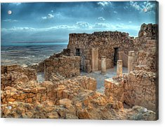 Top Of Masada Acrylic Print