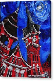 Top Of Samford Hall Acrylic Print by Carole Foret