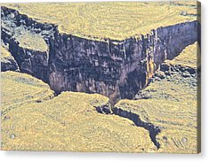 Above The Canyon Top   Acrylic Print by Jim Ellis