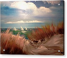 Top Of The Dune Acrylic Print by Joseph Gallant