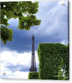 Top Of The Eiffel Tower. Paris. France. Acrylic Print by Bernard Jaubert