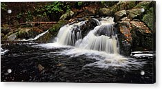 Top Of The Falls Acrylic Print by Mike Farslow