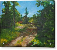Top Of The Hill Acrylic Print by Chris Wing