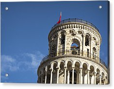 Top Of The Leaning Tower Of Pisa Acrylic Print