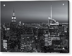 Top Of The Rock Twilight V Acrylic Print by Clarence Holmes