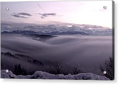 Top Of Zurich Acrylic Print by Florian Strohmaier