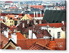 Top View In Prague Acrylic Print by John Rizzuto