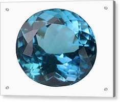 Topaz Gem Acrylic Print by Science Stock Photography/science Photo Library