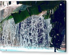 Acrylic Print featuring the photograph Topical Water Fall by Judy Palkimas