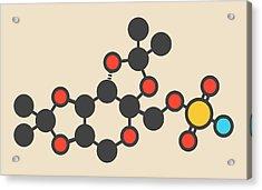 Topiramate Epilepsy Drug Molecule Acrylic Print by Molekuul