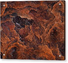 Topography Of Rust Acrylic Print by Rona Black