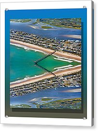 Topsail Beach Aerial Reflection Acrylic Print
