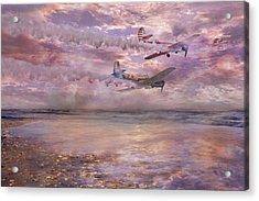 Topsail Flyers Acrylic Print by Betsy Knapp