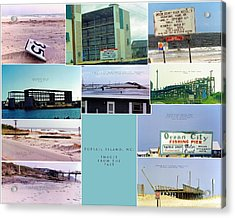 Topsail Island Images From The Past Acrylic Print